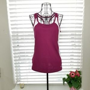 The North Face Magenta Racer Back Tank Top